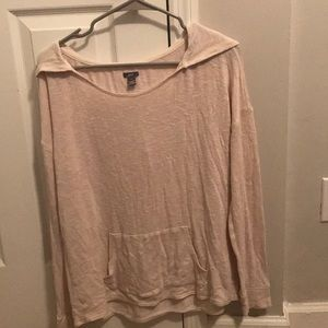 Aerie women's large lightwght hooded sweater